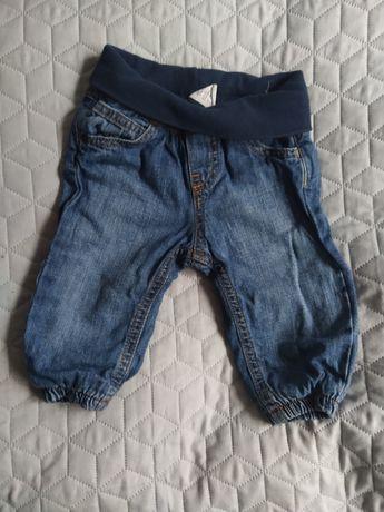 Ocieplane spodnie dżinsowe H&M 68