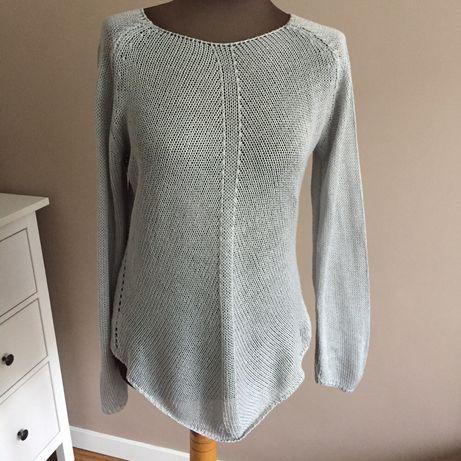 Sweter tj. ażurowy szary rozm.uniwersalny