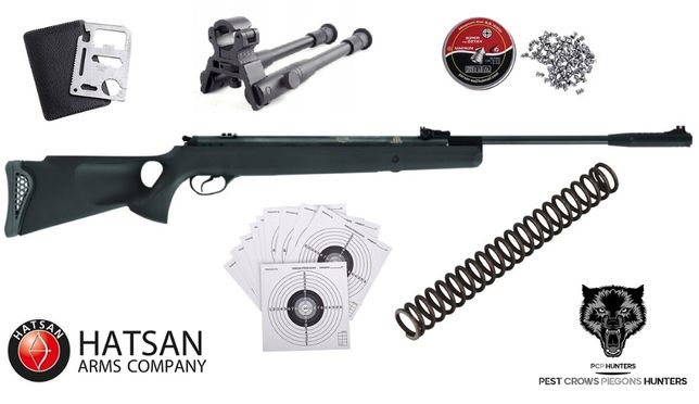 157 16 Hatsan Mod 125 TH Sport 4.5mm + SPRĘŻYNA + BIPOD !! ZESTAW !!