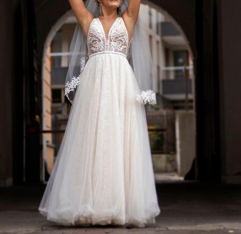Suknia ślubna welon dodatki