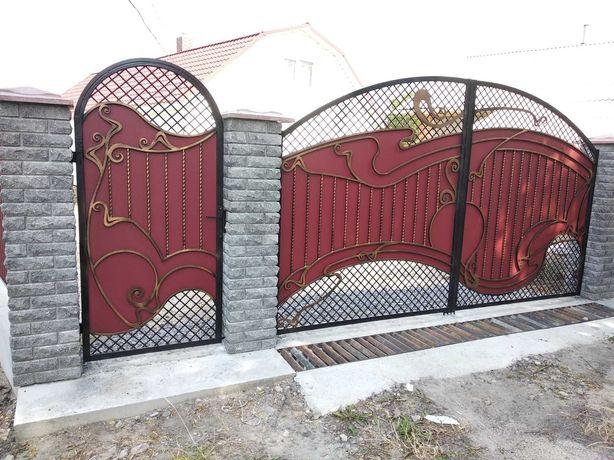 Ворота прості і ковані , прольоти , перила, гойдалки, кирнички, козири
