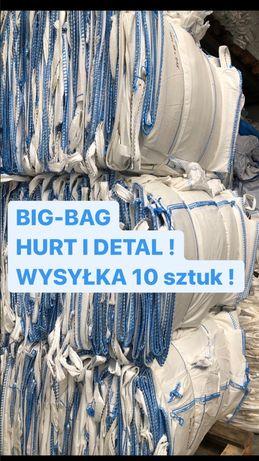 BIG BAG BEG BAGS BAGI BIGI z lejem spustowym 90/90/219 cm wysokie