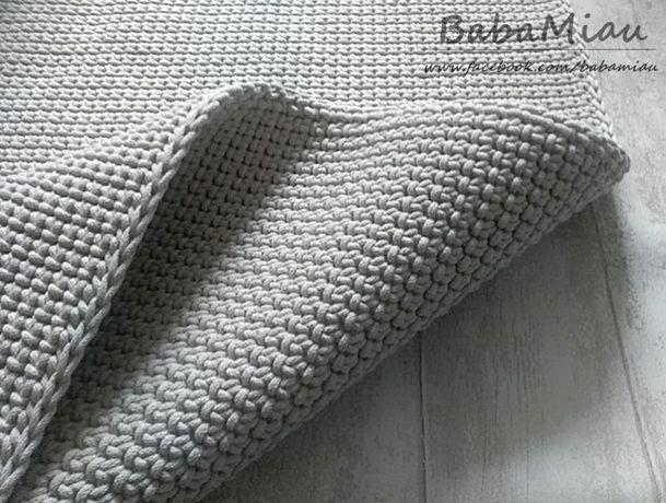 Gruby dywan dwustronny bawełniany