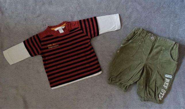 Jak Nowy zestaw t-shirt H&M + spodnie C&A 62