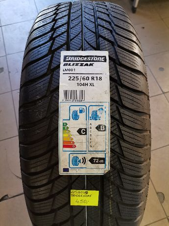 225/60R18 104H Bridgestone Blizzak LM001 XL * Nowe