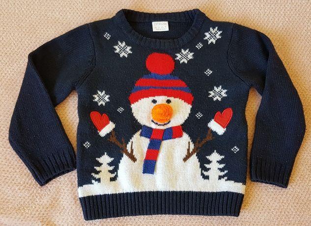 Sweterek F&F z bałwanem r. 98