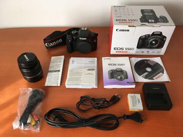 Máquina Fotográfica Canon EOS 550D + Lente 18-55 + acessórios do kit