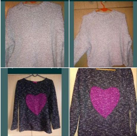Śliczne swetetki swetry ciepłe miękkie L Primark