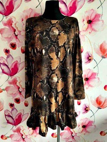 what&ver sukienka modny fason węża skóra nowa hit roz.40