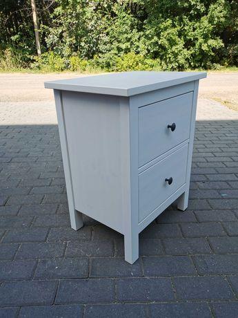 IKEA HEMNES Komoda, 2 szuflady, biała bejca