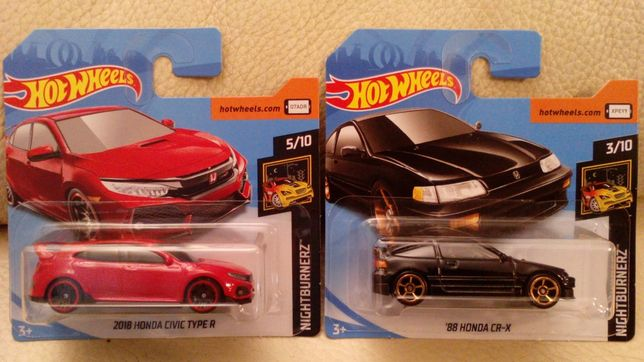 Hotwheels Honda Civic EF-1/Type R/CRX/City Turbo2/Acura Integra/Monkey