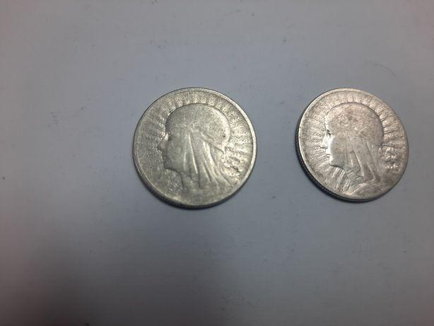 Серебряная монета 2 злотых 1933 польша