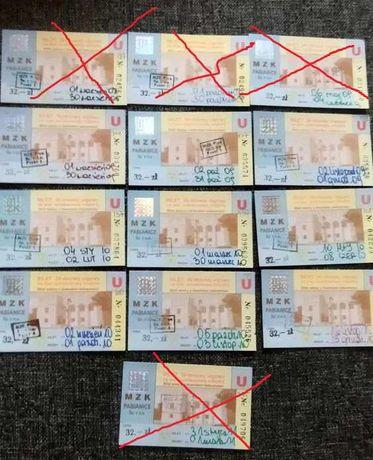 Bilet autobusowy 30-dniowy miesięczny migawka MZK Pabianice 2008/2011