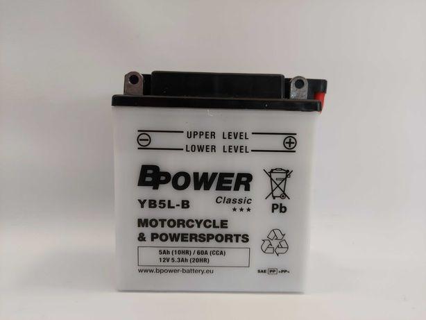 Akumulator motocyklowy BPower 12V 5Ah YB5L-B