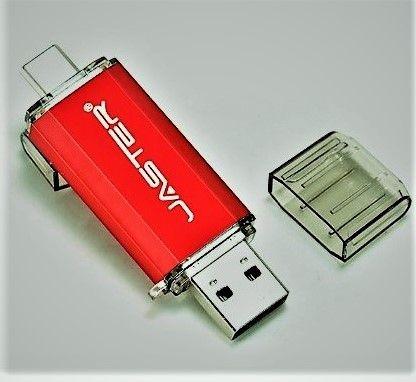 Флеш-накопитель 2 в 1 USB - Type-C флешка на 64 ГБ