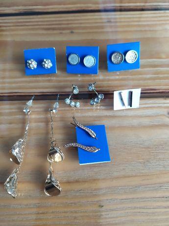 Sztuczna biżuteria kolczyki pozłacane 3 zł sztuka