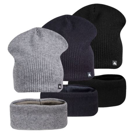 Комплект шапка с хомутом на флисе маркус ог. 54-58см