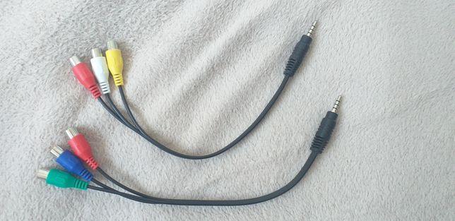 Cabo adaptador jack 3.5mm macho para RCA AV fêmea