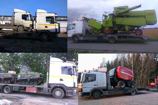 Autolaweta laweta pomoc drogowa, przewóz maszyn rolniczych budowlanych