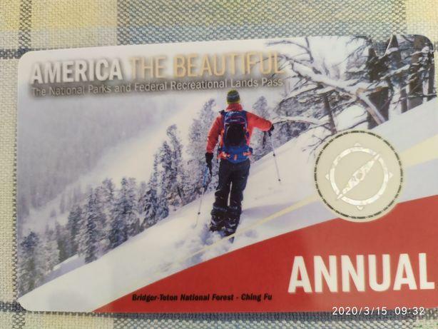 Karta America the beautiful. Ważna do luty 2021