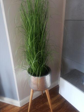 Komplet trawa plus doniczka ceramiczna