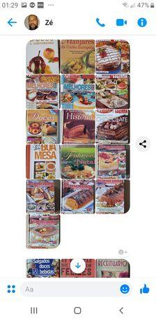 Livros de culinária e pastelaria.