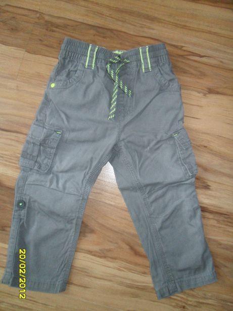 spodnie bojówki 86 92 spodnie 3/4