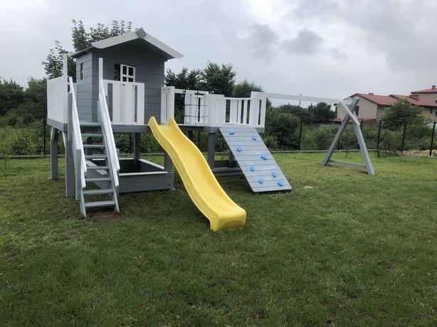 Plac zabaw DORI gniazdo piaskownica zjezdzalnia ścianka dla dzieci dom