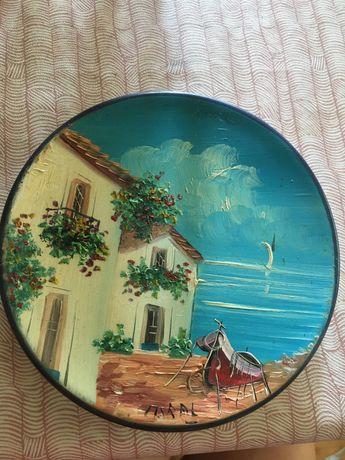 Тарелка настенная роспись