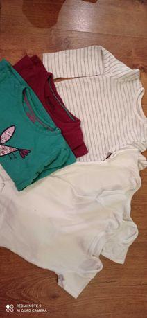 Body rozmiar 8O dziewczynka krótki długi rękaw bluzka
