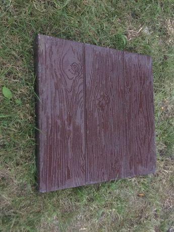 Płyty płytki tarasowe chodnikowe betonowe drewno 40x40x5