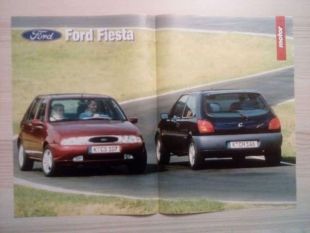 Plakat Poster Ford Fiesta '95 33cm x 47cm Samochody Auto Cars Kolekcja