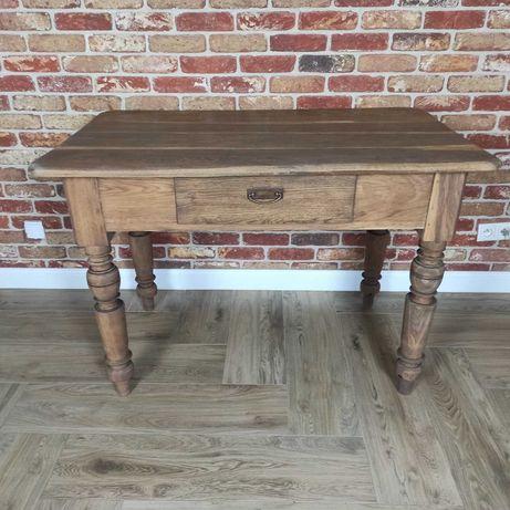 Stół biurko drewniany 123/74 lity dąb międzywojenny