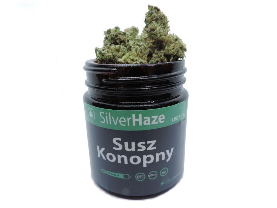 Susz CBD 5,1% Super Silver Haze 5g szklany słoik Częstochowa - image 1