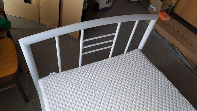 Rama łóżka VALSTED 90x200cm białe + Spód Żebrowy 90X200 BASIC A5