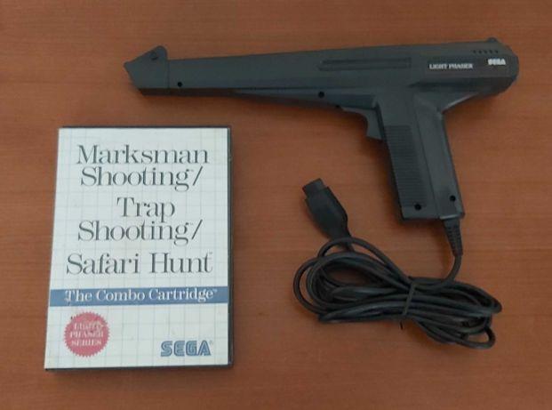 Light Phaser Master System Pistola +  jogos