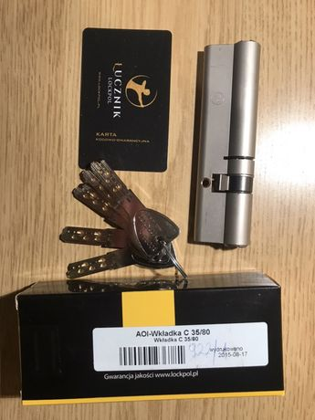 Wkładka do drzwi Łucznik Lockpol 35/80 Premium C Nowa