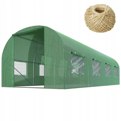 Tunel foliowy ogrodowy szklarnia 2,5x4m 10m2 + gratis 100m sznurka