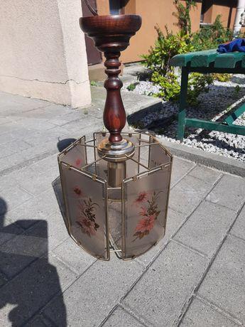 Lampa wisząca z witrazami