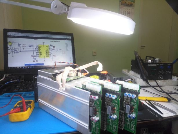 Ремонт асиков Asic Antminer S9, L3+, T9+, Aixin 25T, любой сложности