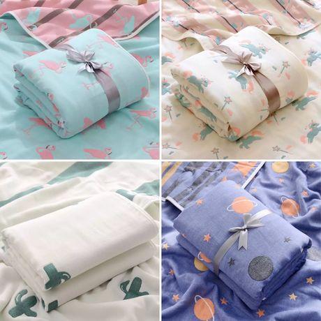 Муслиновый плед одеяло конверт с капюшоном уголок пеленка муслин
