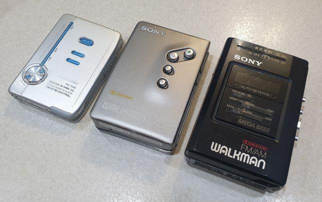 Walkman 3 szt. SONY WM-DD11/ WM-AF57/BF57 PANASONIC RQ-SX56 uszkodzone