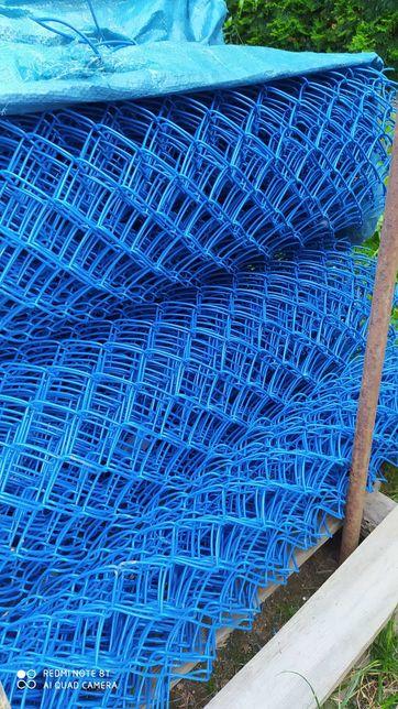 Siatka ogrodzeniowa powlekana niebieska. wysokość 170 cm