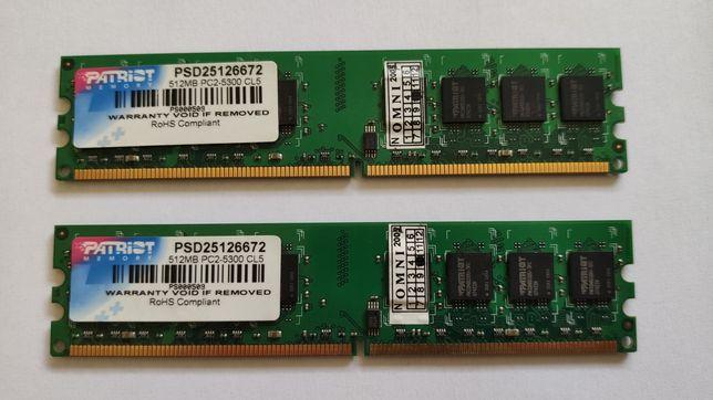 Оперативна пам'ять DDR2 1Gb 2x512mb