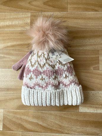 Продам новую зимнюю шапку next перчатки