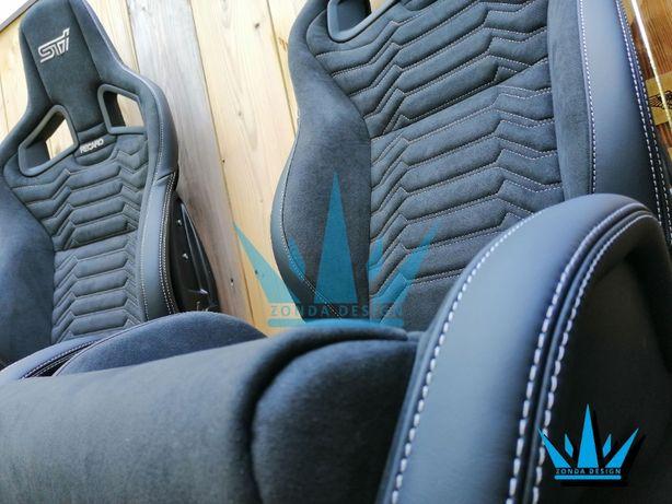 Fotele Recaro CS Subaru Audi BMW tapicerka