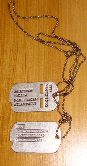Nieśmiertelnik, jedyny taki na olx American. Army Serial Tags. 35 FORC Drohiczyn - image 1