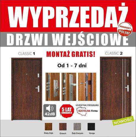 Drzwi wejściowe antywłamaniowe wyciszone do mieszkań z montażem