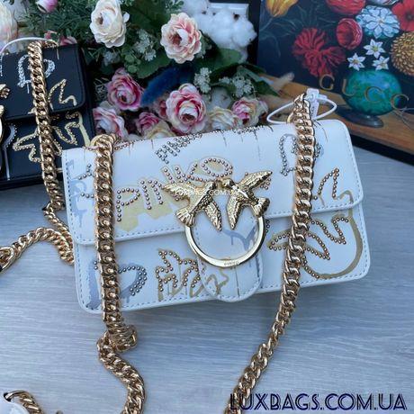 Женская яркая сумка Пинко Pinko белая