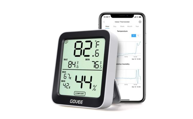 Higrómetro / Termómetro de Humidade para Interior com alarme LCD Verão
